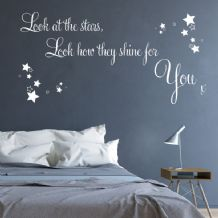 Look at the Stars Look How they Shine for You ~ Wall sticker / decals